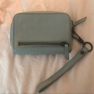 Alexander Wang Oyster Fumo Leather Wristlet